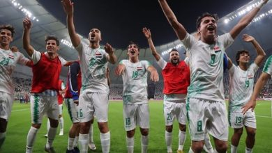 العراق تفوز علي الإمارات وتتصدر المجموعة