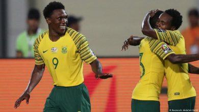 جنوب إفريقيا يضع قدما داخل كأس أمم إفريقيا في الكاميرون بعد الفوز علي ساوتومي