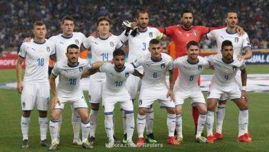 تشكيلة المنتخب الإيطالي لمباراة اليوم
