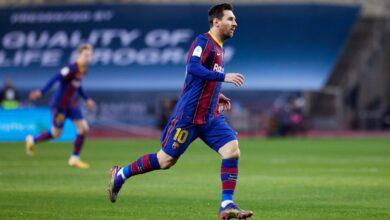 ميسي يقود برشلونة لمواجهة إشبيلية في نصف نهائي كأس الملك