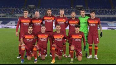 تعرف علي ..تشكيل الذئاب نادي روما لمواجهة سبيزيا بكأس إيطاليا