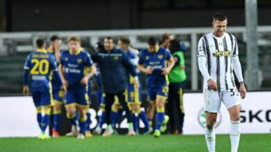 يوفنتوس يقع في فخ التعادل الإيجابي أمام فيرونا بالدوري الإيطالي