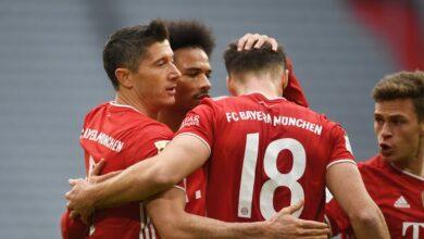بايرن ميونيخ يكتسح كولن بخماسية في الدوري الألماني
