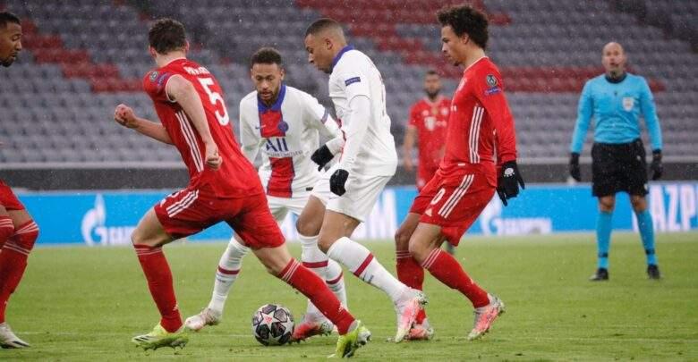 """""""مبابي"""" يقود باريس سان جيرمان لانتصار غالي علي بايرن ميونيخ في دوري الأبطال"""