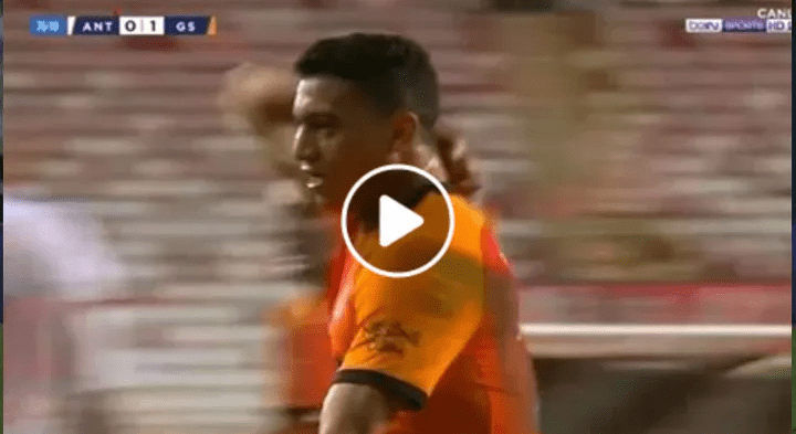 بالفيديو.. مصطفى محمد يسجل هدف جالطة سراي الأول أمام أنطاليا سبور