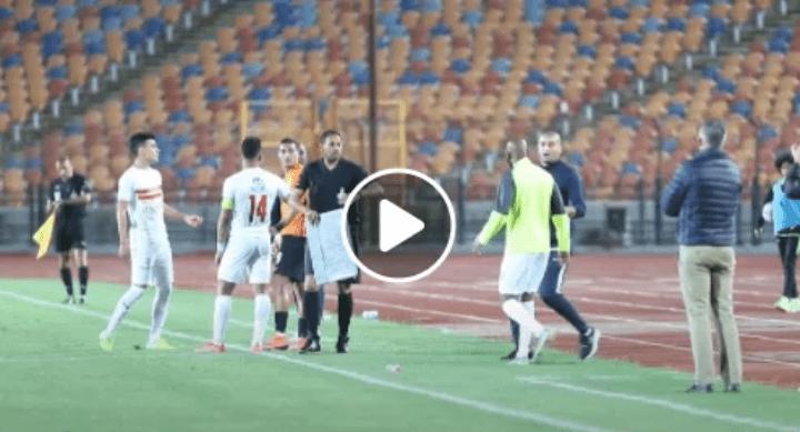 بالفيديو.. إنفعال شيكابالا على أحمد ياسر لاعب البنك الأهلى بسبب ما فعله اثناء نزوله الملعب