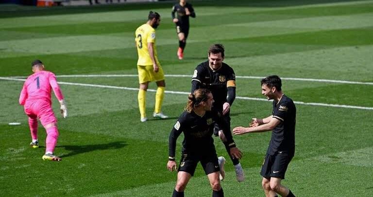 برشلونة يتغلب بصعوبة علي فياريال بهدفين لهدف في الليجا