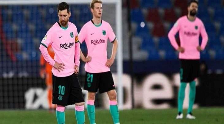 هدية للريال وأتلتيكو ليفانتي يتعادل مع برشلونة في مباراة مثيرة