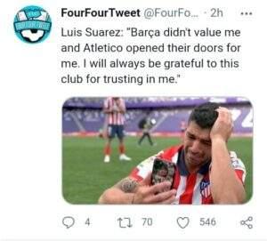 سواريز يوجِّه رسالة إلى برشلونة بعد الفوز بالليجا
