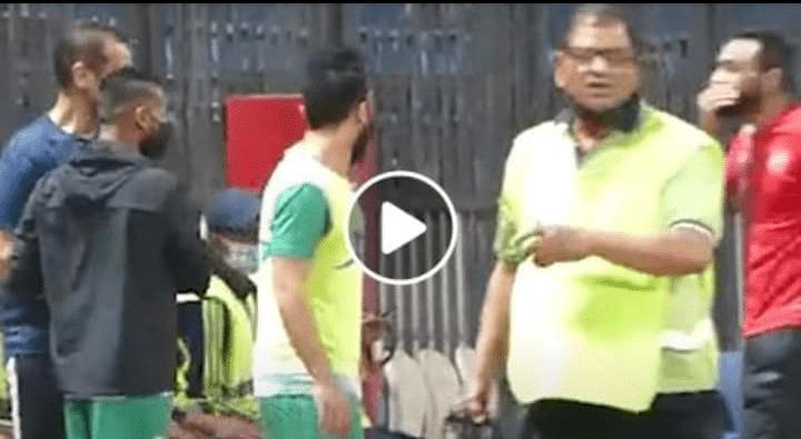 شاهد.. كيف استقبل حسام عاشور كهربا فى مباراة الاهلي والإتحاد السكندري