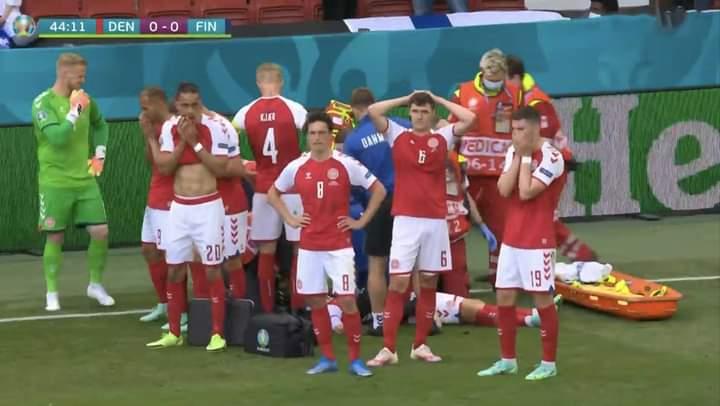 بالفيديو.. لحظة سقوط لاعب الدنمارك اريكسون في يورو 2021