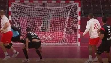 الدنمارك يفوز على منتخب مصر لكرة اليد فى طوكيو 2020