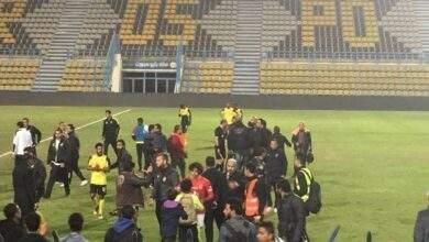 لقطة لم تعرض في المباشر.. خناقة حارس الأهلي مع أمن المقاولين العرب بعد مباراة الأهلي