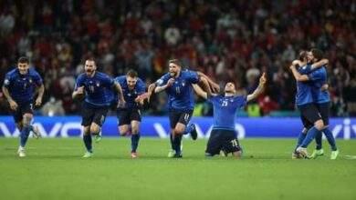 المنتخب الإيطالي يطيح بالمنتخب الإسباني ويحجز معقداً في نهائي يورو 2020